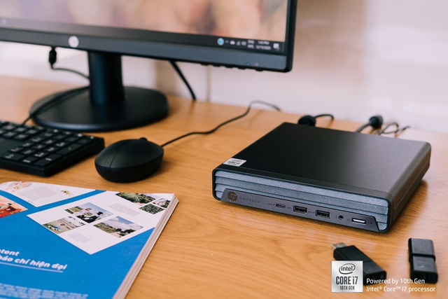 Đánh giá HP Prodesk 400 G6 Desktop Mini: cỗ máy văn phòng nhỏ gọn đầy linh hoạt - Ảnh 4.