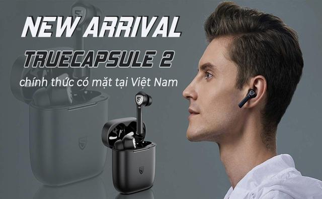 SoundPEATS ra mắt TrueCapsule 2: Cảm biến hồng ngoại, Chip QCC3020 & Bluetooth 5.0, Thời gian chơi nhạc 40 giờ - Ảnh 1.