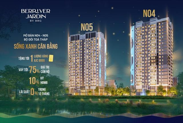 BerRiver Jardin tiếp tục mở bán 2 toà tháp sống xanh cân bằng cuối cùng - Ảnh 2.