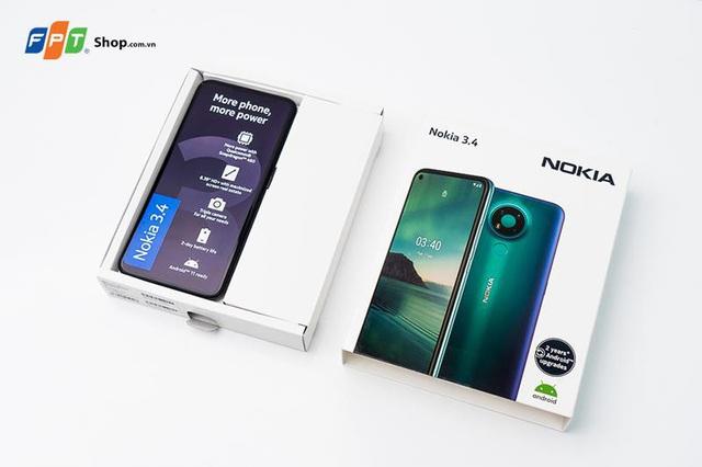 Nokia 3.4 ra mắt: Giảm đến 500.000 đồng, trả góp 0% lãi suất tại FPT Shop - Ảnh 1.