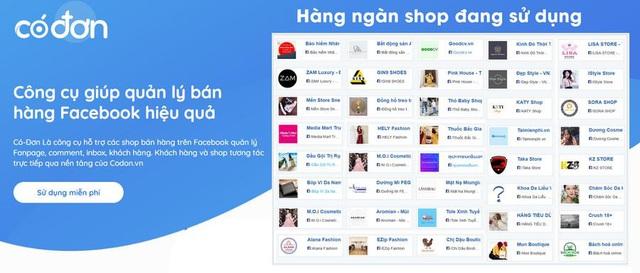 Ra mắt Codon.vn, Công cụ giúp quản lý bán hàng Facebook hiệu quả - Ảnh 1.
