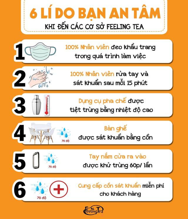 6 lý do bạn yên tâm thưởng thức Feeling Tea mùa dịch