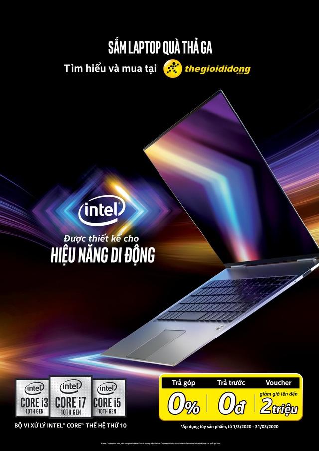Sắm laptop chip Intel thế hệ 10 nhận quà ngon tại Thế Giới Di Động - Ảnh 1.
