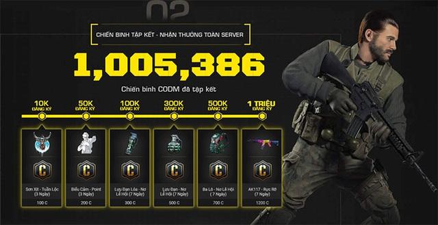 Call of Duty: Mobile VN vượt mốc 1 triệu đăng ký tải game trước ra mắt - Ảnh 2.