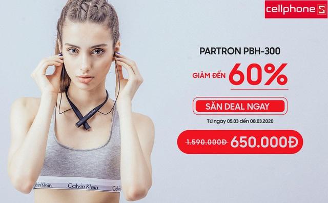 Quà ngon 8/3: Giảm đến 60 % tai nghe Partron PBH-300 tại CellphoneS - Ảnh 1.