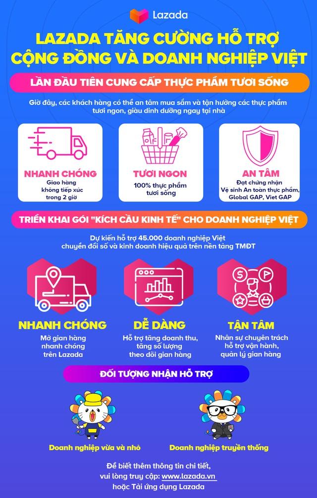 """Triển khai gói """"Kích cầu kinh tế"""", Lazada Việt Nam dự kiến hỗ trợ 45,000 doanh nghiệp vượt qua mùa dịch - Ảnh 1."""