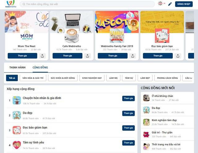 Webtretho mạng xã hội chuyên ngành, hướng đi riêng của chính mình - Ảnh 1.