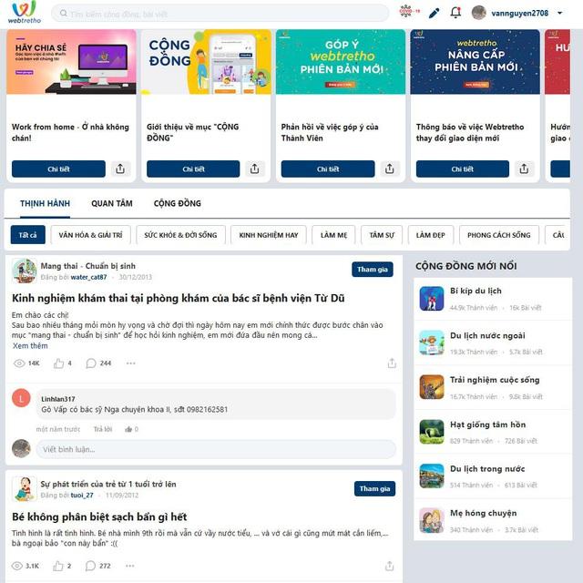 Webtretho mạng xã hội chuyên ngành, hướng đi riêng của chính mình - Ảnh 2.
