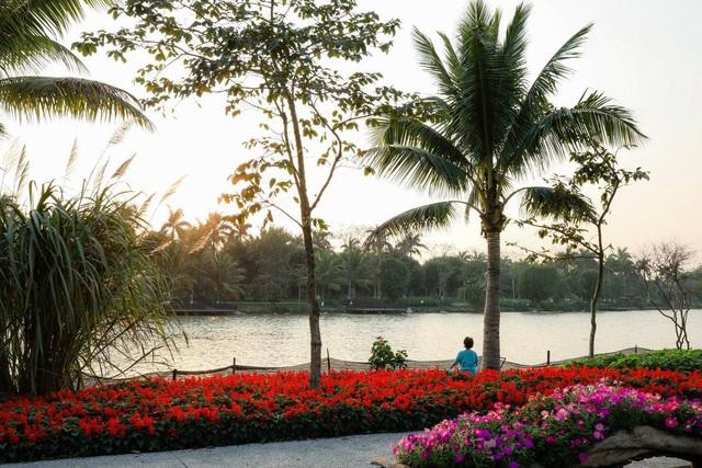 Vẻ đẹp hấp dẫn của Ecopark trong phút giao mùa - Ảnh 5.