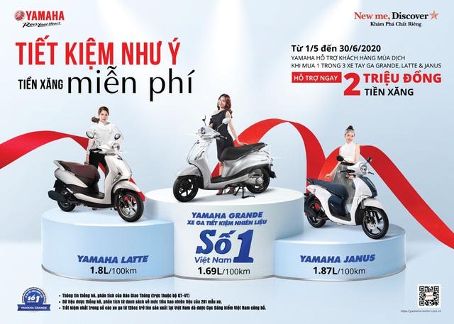 """Yamaha tung ưu đãi """"khủng"""" nhân dịp Grande trở thành xe tay ga tiết kiệm xăng số 1 Việt Nam - Ảnh 1."""