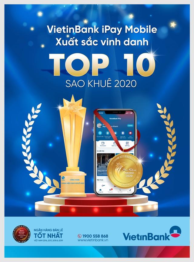 Hai sản phẩm ngân hàng điện tử của VietinBank liên tiếp đạt Danh hiệu Sao Khuê - Ảnh 1.