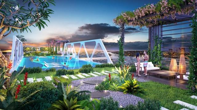 Triển khai loạt hồ bơi, vườn thượng uyển giữa không trung trên độ cao hàng trăm mét tại Ecopark - Ảnh 1.