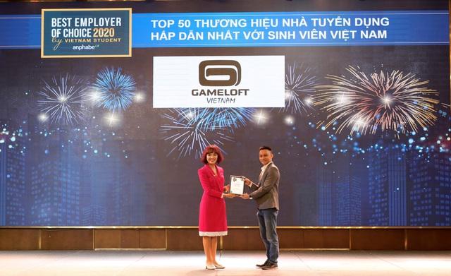 Gameloft đạt danh hiệu nhà tuyển dụng về game hấp dẫn sinh viên - Ảnh 1.