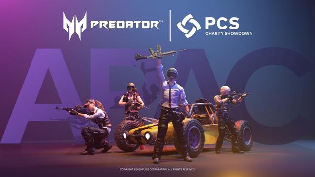 Acer Predator là nhà tài trợ chính thức cho giải đấu vì cộng đồng PUBG Continental Series (PCS) APAC Charity Showdown - Ảnh 1.
