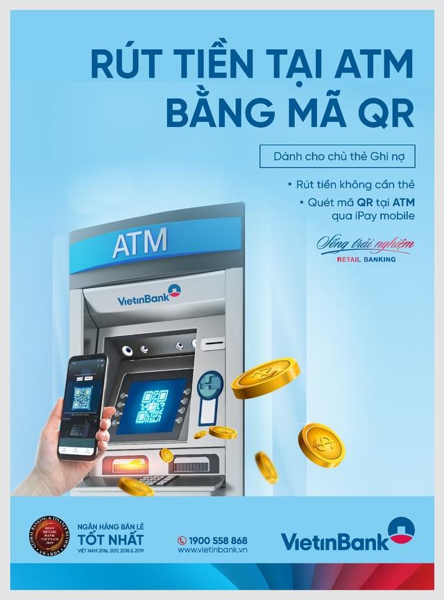 VietinBank triển khai rút tiền bằng mã QR tại ATM - Ảnh 1.