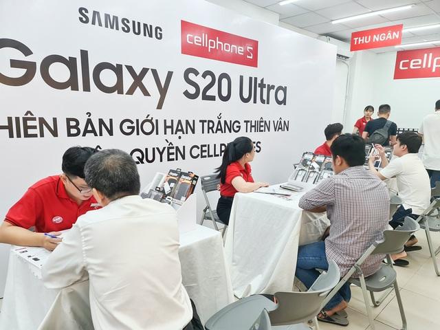 """Galaxy S20 Ultra Trắng Thiên Vân mở bán tại Cellphones, """"cháy"""" 1000 suất trong 3 ngày - Ảnh 2."""