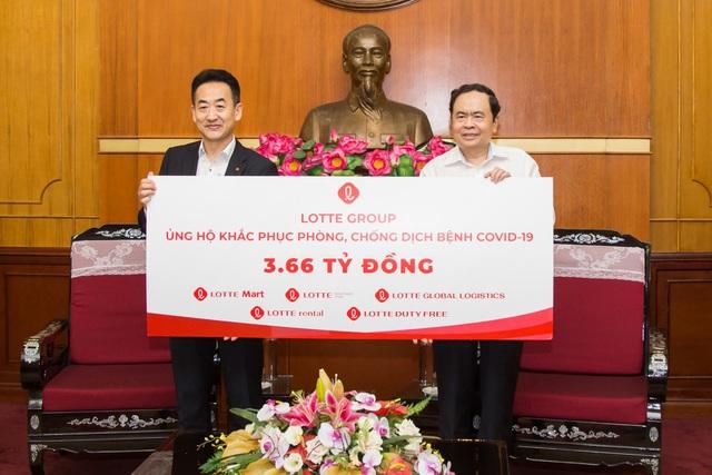 Tập đoàn Lotte trao 3,66 tỷ đồng, chung tay cùng Việt Nam phục hồi sau Covid-19 - Ảnh 1.