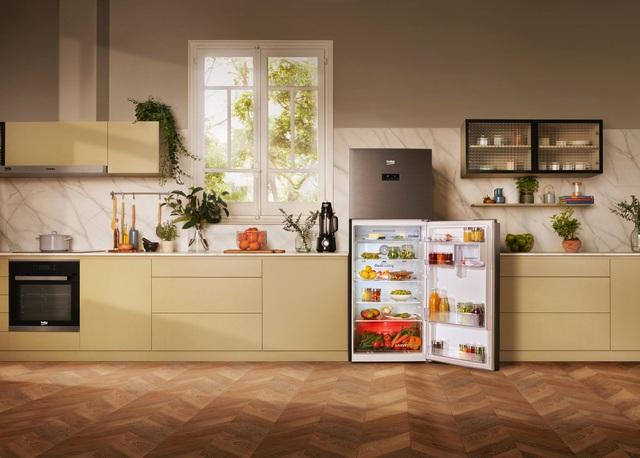 Tủ lạnh công nghệ ánh sáng vi chất HarvestFresh của Beko giúp bảo quản rau củ chuẩn châu Âu - Ảnh 2.