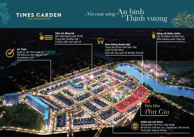 Times Garden Vĩnh Yên Residences - mở bán biệt thự sinh lời nhanh chóng cho nhà đầu tư - Ảnh 1.