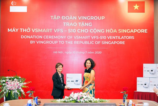 Vingroup trao tặng 1.000 máy thở cho Nga, Ucraina và Singapore - Ảnh 1.