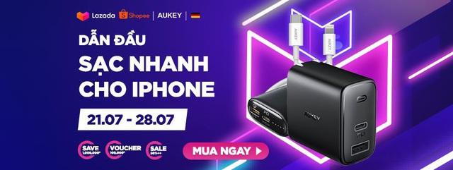 Aukey mở bán combo sạc nhanh 18W cao cấp dành riêng cho iPhone với giá siêu hời, tiết kiệm hơn 1.000.000đ - Ảnh 1.