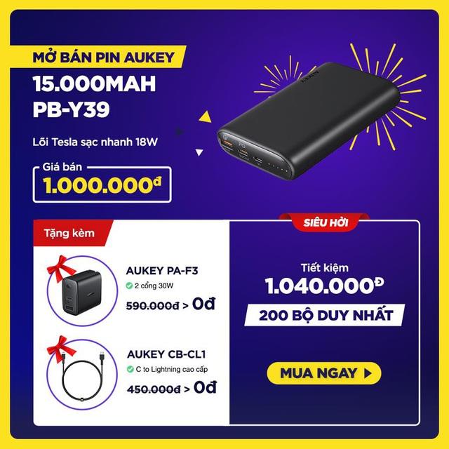 Aukey mở bán combo sạc nhanh 18W cao cấp dành riêng cho iPhone với giá siêu hời, tiết kiệm hơn 1.000.000đ - Ảnh 5.