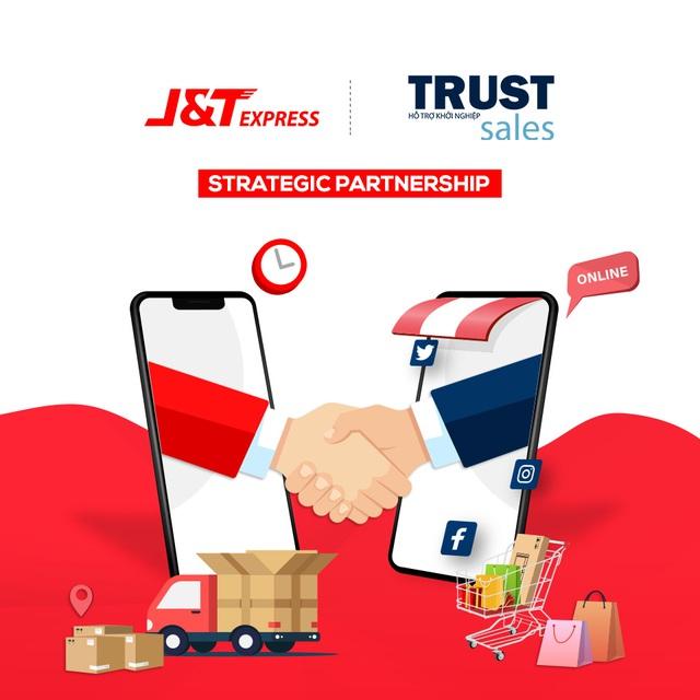 """Chuyển phát nhanh J&T Express """"bắt tay"""" cùng TrustSales - Ảnh 1."""