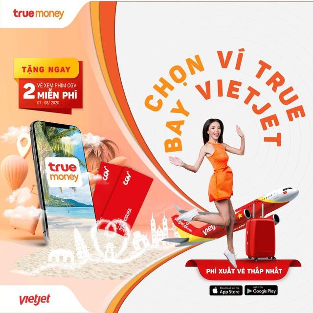 Chính thức triển khai bán vé Vietjet trên ví điện tử Truemoney - Ảnh 1.