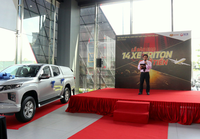 Đại Lý Mitsubishi Satsco bàn giao 14 xe chở tiền cho Ngân hàng TMCP Sài Gòn - Ảnh 1.