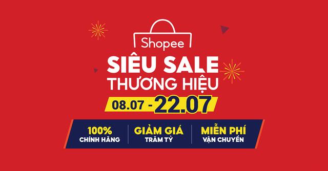 Shopee khởi động chương trình Siêu Sale Thương Hiệu với hàng nghìn sản phẩm chính hãng giá rẻ vô địch - Ảnh 1.