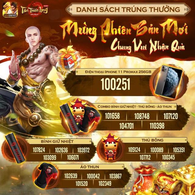 Tân Thiên Long Mobile công bố kết quả sự kiện Mừng Phiên bản mới - Chung vui nhận quà - Ảnh 4.