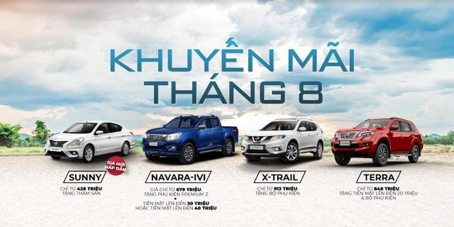 Mức giá mới đặc biệt cho Nissan Sunny và ưu đãi tháng 8 cho các dòng xe Nissan - Ảnh 2.