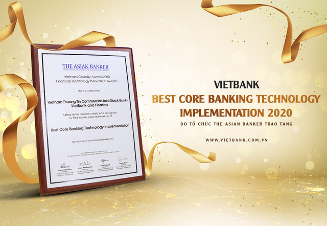 Vietbank được The Asian Vietnam Awards vinh danh giải thưởng công nghệ ngân hàng lõi tốt nhất năm 2020 - Ảnh 1.