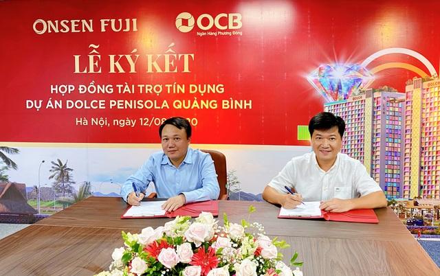 Onsen Fuji và Ngân hàng OCB chính thức ký kết hợp đồng tài trợ tín dụng cho dự án Dolce Penisola Quảng Bình - Ảnh 1.
