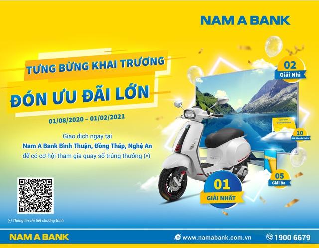 Cơ hội trúng thưởng lớn khi giao dịch tại Nam A Bank - Ảnh 1.
