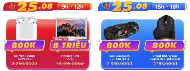HOT: Điểm danh deal công nghệ giảm sốc kịch liệt tại Tiki trong 25 và 26/8 - Ảnh 1.