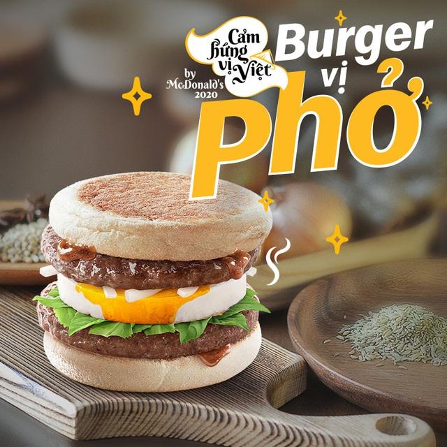 Burger vị Phở - Sự kết hợp độc đáo từ McDonald's - Ảnh 1.