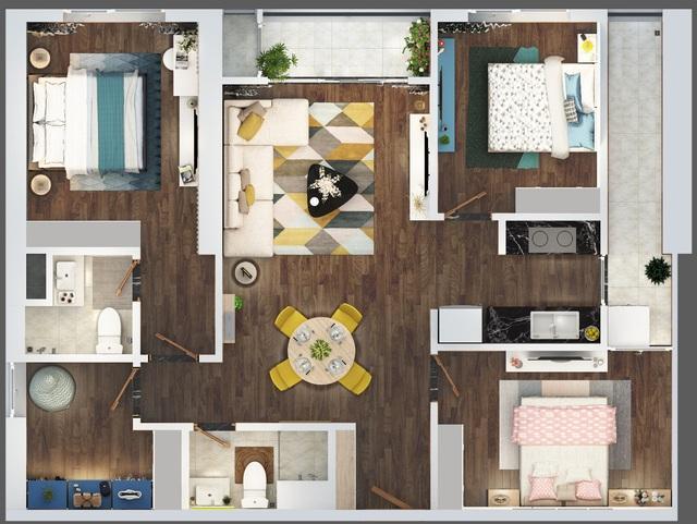 Chỉ từ 2,2 tỷ đồng, sở hữu căn hộ 4 phòng ngủ tại The Terra - An Hưng - Ảnh 1.