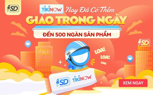Tiki tung thêm dịch vụ TikiNOW Giao Trong Ngày cho hơn nửa triệu sản phẩm - Ảnh 1.