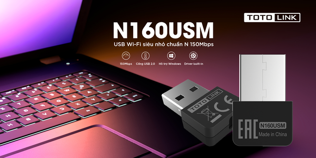 TOTOLINK N160USM - Giải pháp hoàn hảo thay thế cho dây mạng - Ảnh 1.