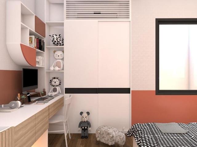 Một góc phòng làm việc trong phòng ngủ