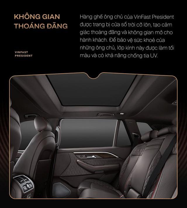 10 điểm giúp VinFast President xứng danh xe của lãnh đạo Việt - Ảnh 4.