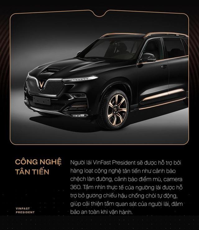 10 điểm giúp VinFast President xứng danh xe của lãnh đạo Việt - Ảnh 7.