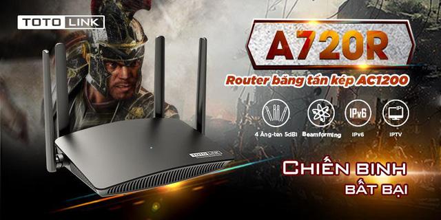 Chiến game mượt mà với Router Wifi AC giá rẻ TOTOLINK A720R - Ảnh 1.