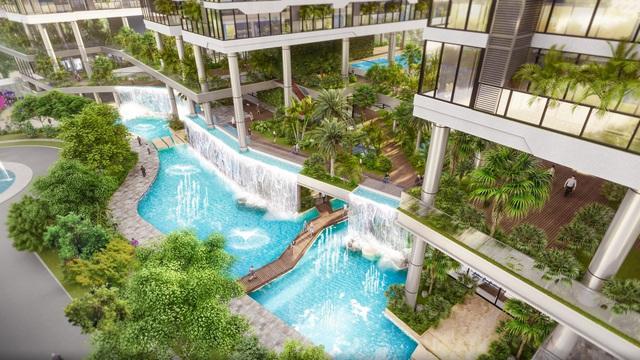 Dự án căn hộ tại Long Biên sở hữu hệ thống suối và thác nước liên hoàn hàng trăm mét - Ảnh 2.