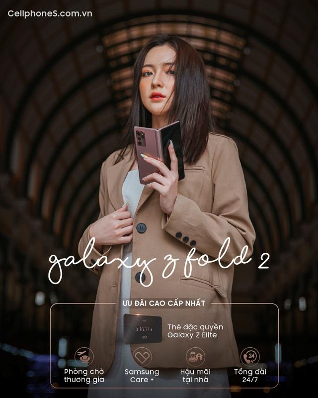 Galaxy Z Fold 2 mở bán tại CellphoneS, lập kỉ lục smartphone màn hình gập bán chạy nhất - Ảnh 4.