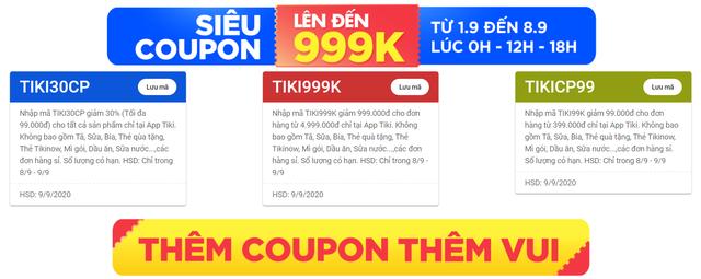 Tổng hợp deal và coupon hot dịp 9.9 trên Tiki - Ảnh 2.
