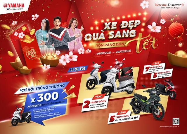 Yamaha Việt Nam khuyến mại khủng chào Xuân Tân Sửu 2021 - Ảnh 2.