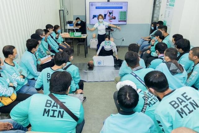BAEMIN nâng cao kiến thức Sơ cấp cứu cho Đối tác tài xế - Ảnh 2.