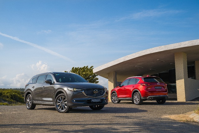 Bộ đôi SUV Mazda CX-5 và Mazda CX-8 về đích ấn tượng - Ảnh 4.